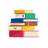 Pile of books in a flat style, isolated on a white background. vector illustration