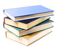Pile of books. Pile of four books on white isolated background Royalty Free Stock Images