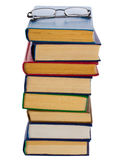 Pile of books and glasses Royalty Free Stock Photo