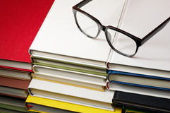 Pile of books and glasses. Royalty Free Stock Photography