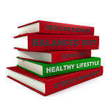 Pile of books - healthy lifestyle Stock Photography