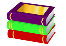 Pile books is insulated Stock Photography