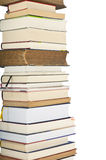 A pile of books. Isolated Royalty Free Stock Photos