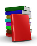 Pile of books. isolated 3D image Stock Photography