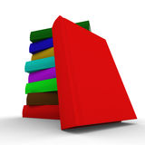 Pile of books. isolated 3D image. On white Royalty Free Stock Images