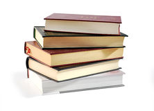 Pile of books isolated over white with clipping pa Royalty Free Stock Images