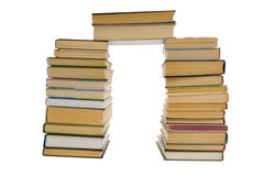 Pile of books  isolated on white Stock Photos