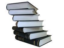Pile of books isolated on white background Royalty Free Stock Image
