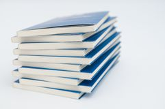 Pile of books isolated on white background Royalty Free Stock Photography