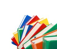 Pile of books isolated on a white background Stock Photography