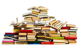 Pile of books, isolated on white Stock Photo