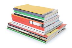 Pile of books and magazines Royalty Free Stock Photos