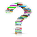 Pile of Books Question Mark Stock Photos