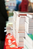 Pile of books ready to be sold Royalty Free Stock Photos