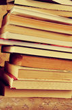 A pile of books, with a retro effect Royalty Free Stock Photos