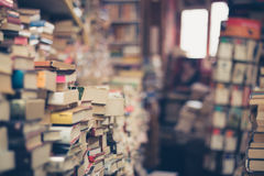 Pile of Books in Shallow Focus Photography Royalty Free Stock Photos