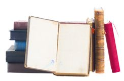 Pile of books Stock Photos