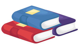 Pile Of Books. A vector of a pile of books stock illustration