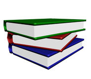 The Pile of the books on white. Royalty Free Stock Photo