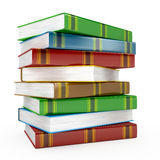 Pile of books on white background Royalty Free Stock Photos