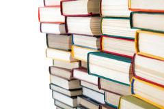 Pile of books. On white background Royalty Free Stock Images