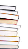 Pile of books. On white background Stock Images