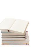 Pile of books on the white background Stock Photography