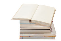 Pile of books on the white background Royalty Free Stock Images