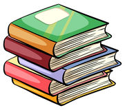 A pile of books. On a white background Stock Photo