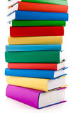 Pile of books. On white background royalty free stock photography