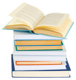 Pile of books on a white background. Pile of books isolated on a white background Royalty Free Stock Images