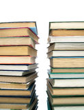 Pile of books on a white background. Royalty Free Stock Images
