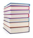 Pile of books on white Royalty Free Stock Photos