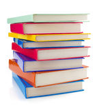 Pile of books on white Stock Images