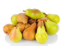 Pile of Bosc and Bartlett Pears Royalty Free Stock Images