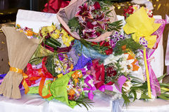 Pile of bouquets Royalty Free Stock Photo