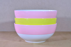 Pile bowl Stock Photography
