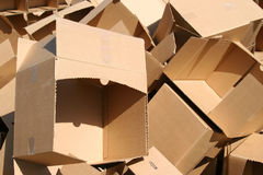 Pile of Boxes. Huge Pile of Empty Cardboard Boxes stock images