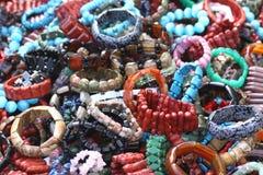 Pile of bracelets Royalty Free Stock Photo