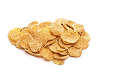Pile of bran flakes Royalty Free Stock Photos