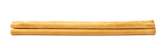 Pile of bread sticks isolated Royalty Free Stock Photos