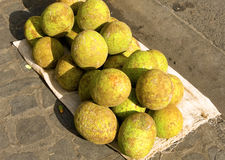 A pile of breadfruit Stock Image