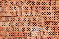Pile brick. Stock Photography