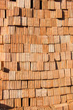 Pile of brick block used for industrial in residential building Royalty Free Stock Images