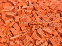Pile of brick. Construction background. Stock Photo