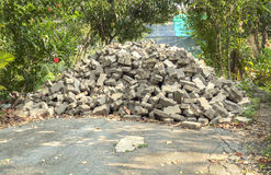 Pile of brick. Royalty Free Stock Images