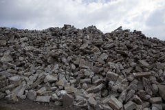 Pile of brick rubble Royalty Free Stock Photo