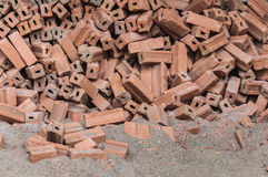 The pile of brick and sand for construction Stock Photos