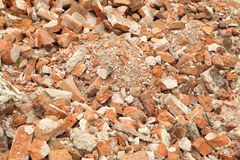 Pile of brick wall Royalty Free Stock Photos