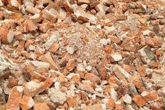 Pile of brick wall Royalty Free Stock Photos